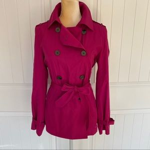 Ann Taylor belted trench coat size small